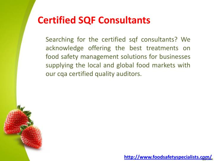 Certified SQF Consultants