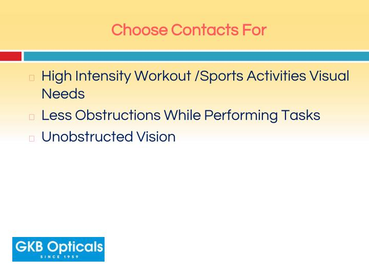 Choose Contacts For