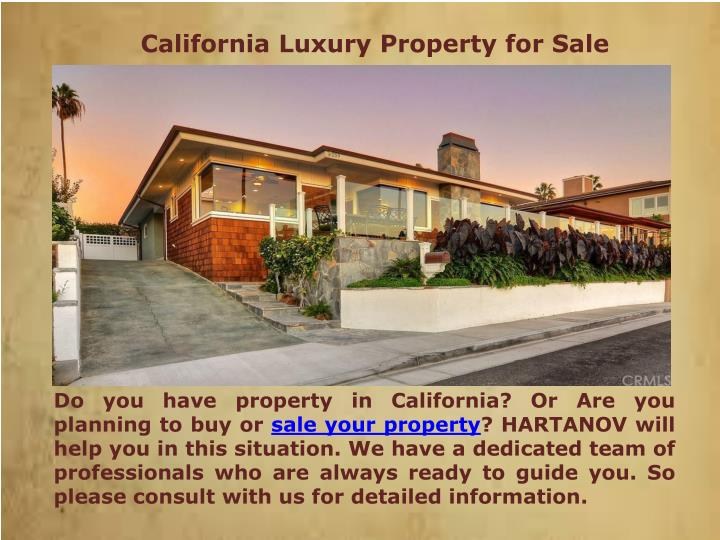 California Luxury Property for Sale