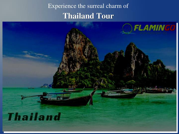 Experience the surreal charm of thailand tour
