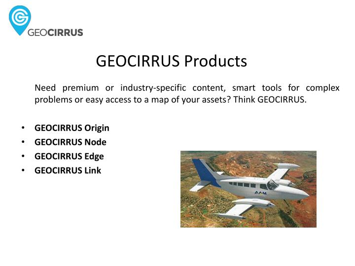 GEOCIRRUS Products