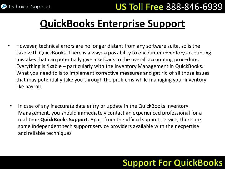 Quickbooks enterprise support