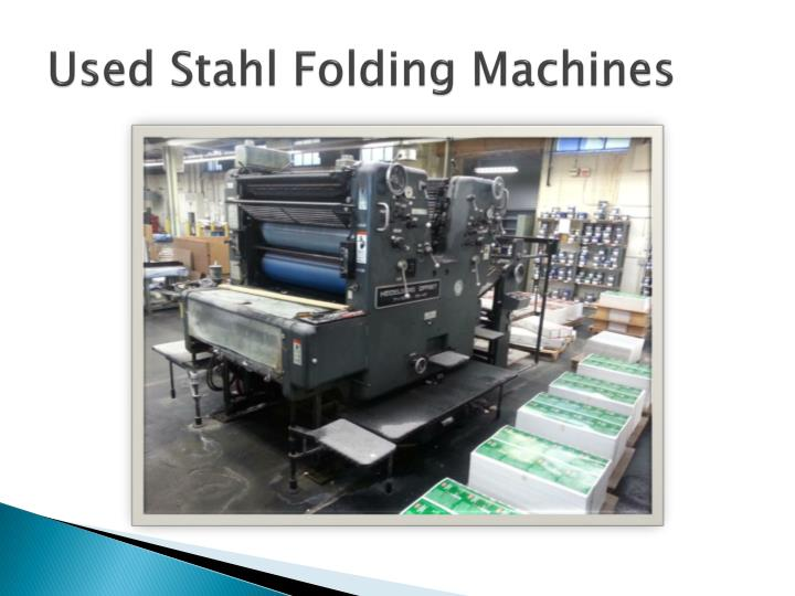 Used Stahl Folding Machines