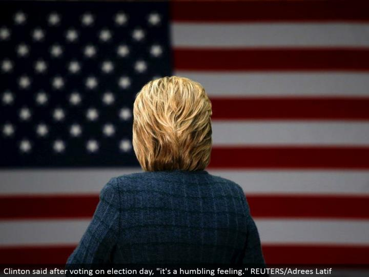 "Clinton said in the wake of voting on race day, ""it's a lowering feeling."" REUTERS/Adrees Latif"