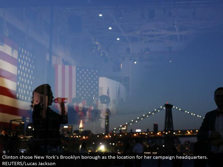 Clinton picked New York's Brooklyn district as the area for her battle central command. REUTERS/Lucas Jackson