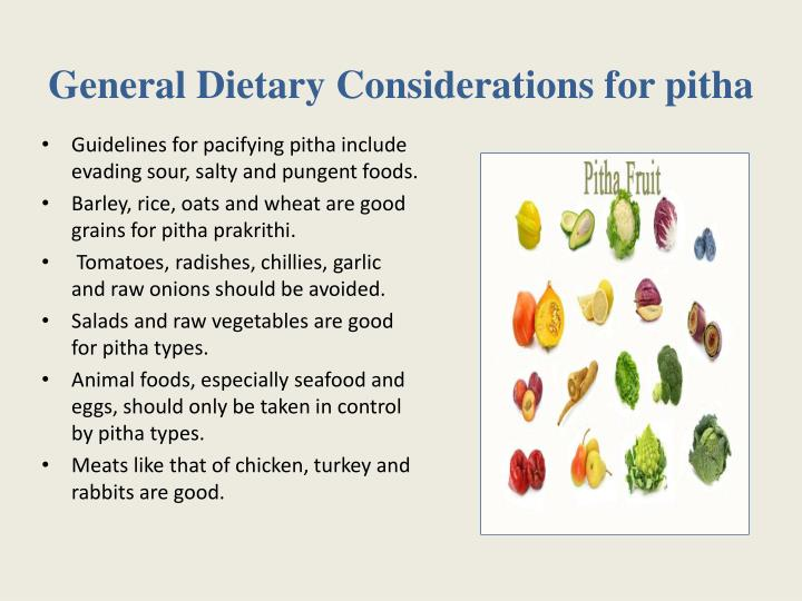 General Dietary Considerations for