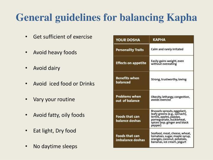 General guidelines for balancing