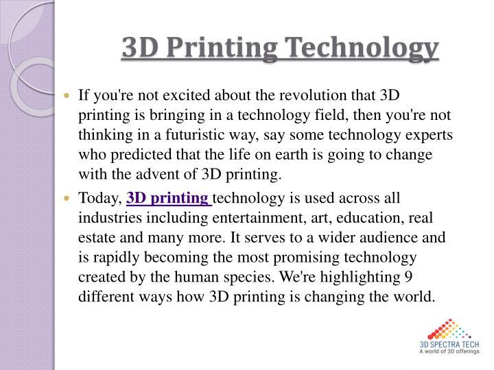 3d printing technology
