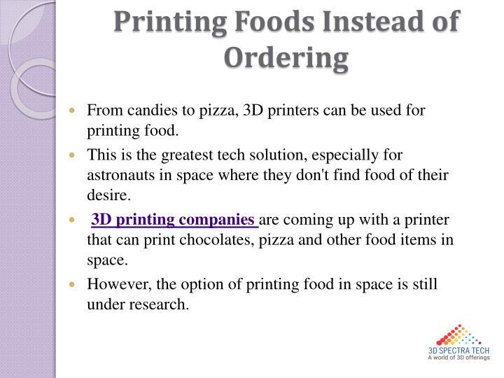 Printing Foods