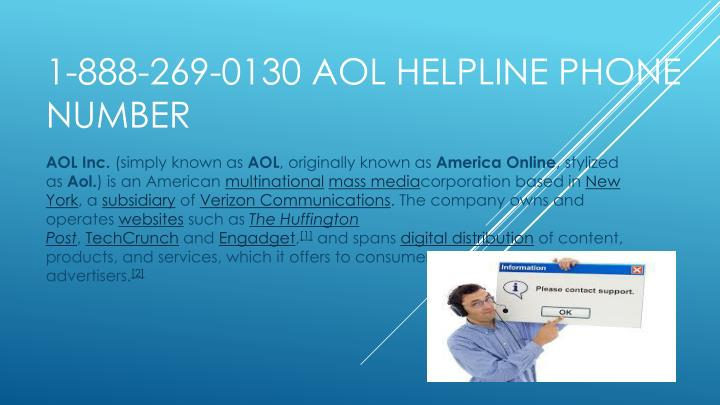 1 888 269 0130 aol helpline phone number
