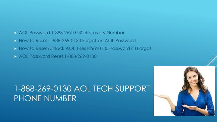 AOL Password 1-888-269-0130 Recovery Number