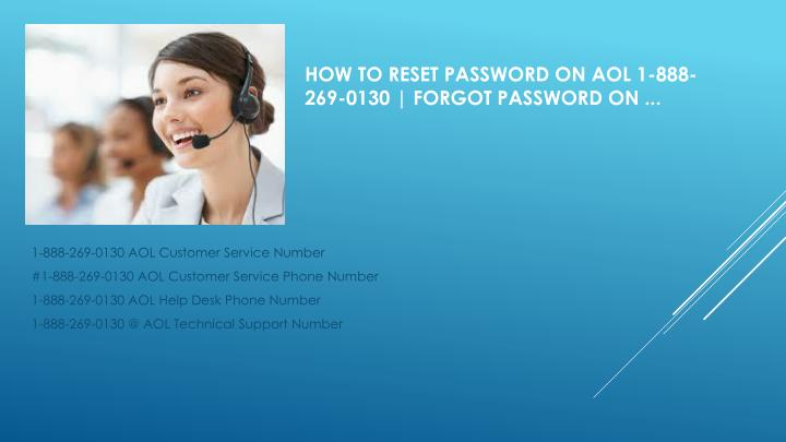 How to Reset Password on AOL 1-888-269-0130 | Forgot Password on ...