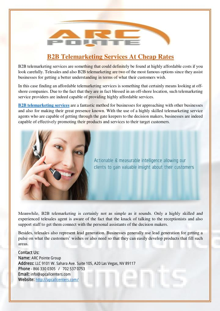 B2B Telemarketing Services At Cheap Rates