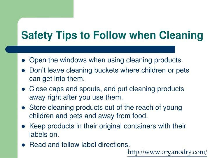 Safety Tips to Follow when Cleaning
