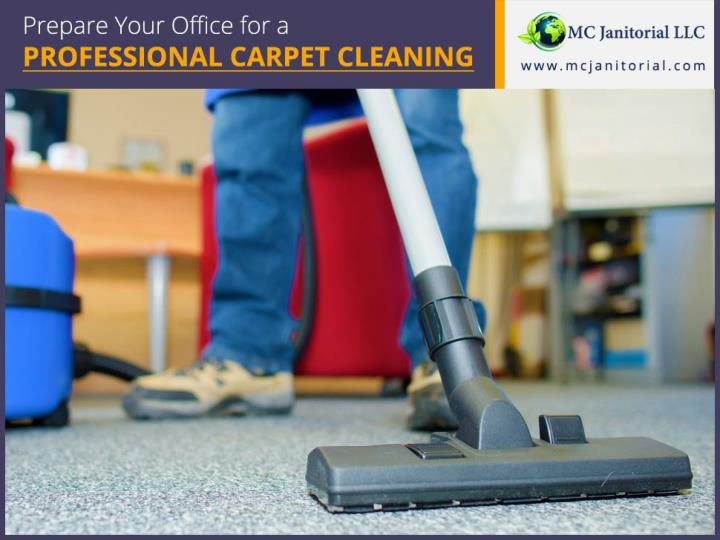 Prepare your office for a professional carpet cleaning