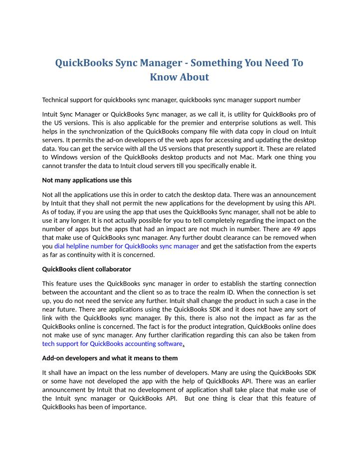 QuickBooks Sync Manager - Something You Need To