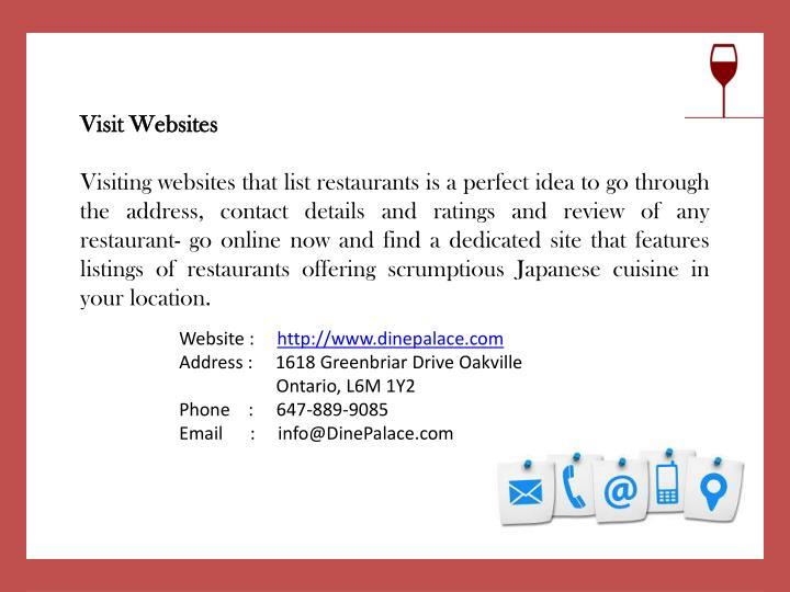 Visit Websites