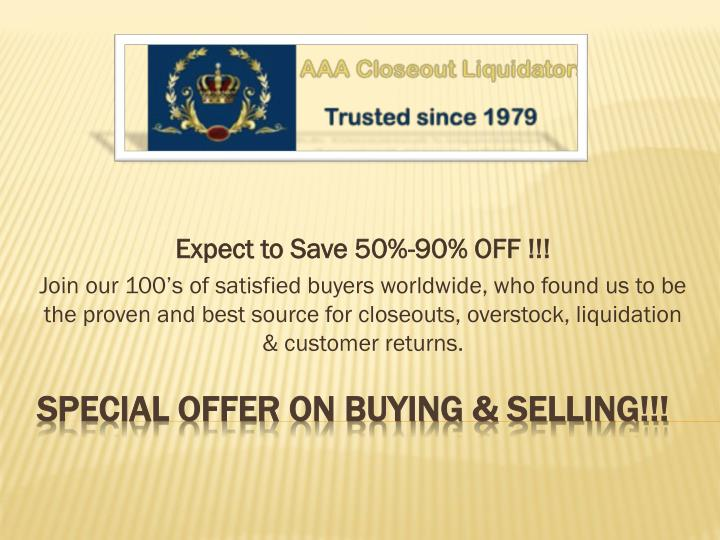 Special offer on buying selling
