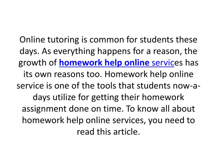 Online tutoring is common for students these days. As everything happens for a reason, the growth of