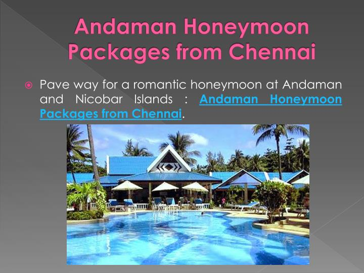 Andaman Honeymoon Packages from Chennai