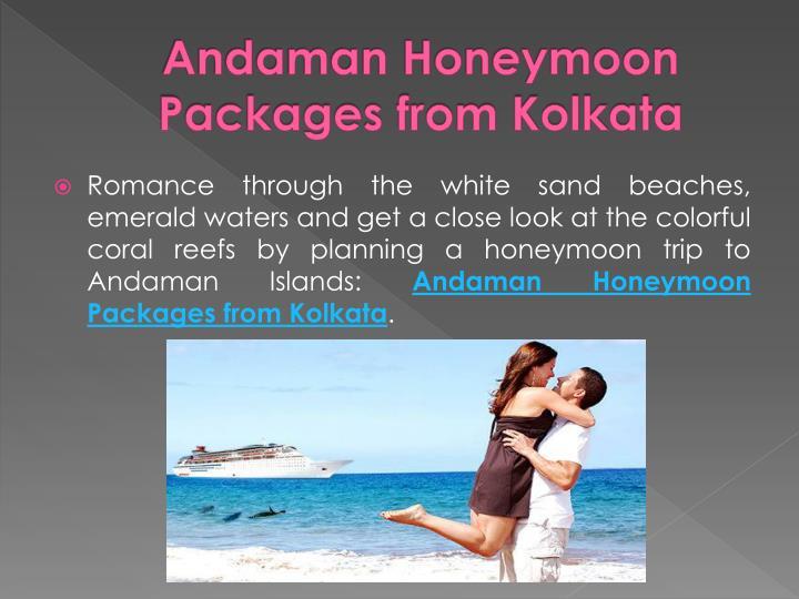 Andaman Honeymoon Packages from Kolkata