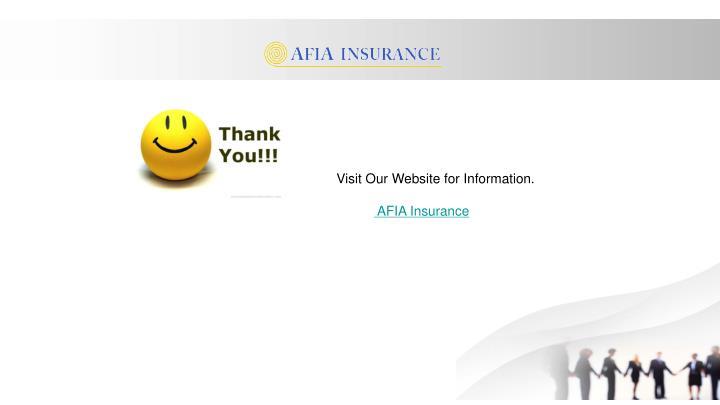 Visit Our Website for Information.