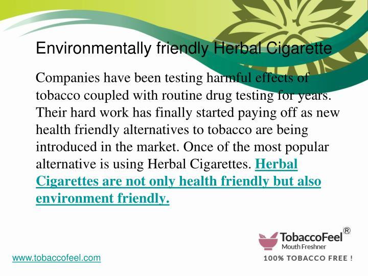 Environmentally friendly Herbal Cigarette
