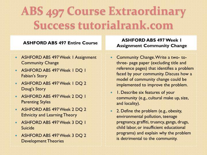ASHFORD ABS 497 Entire Course