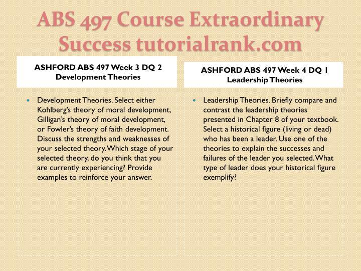 ASHFORD ABS 497 Week 3 DQ 2 Development Theories