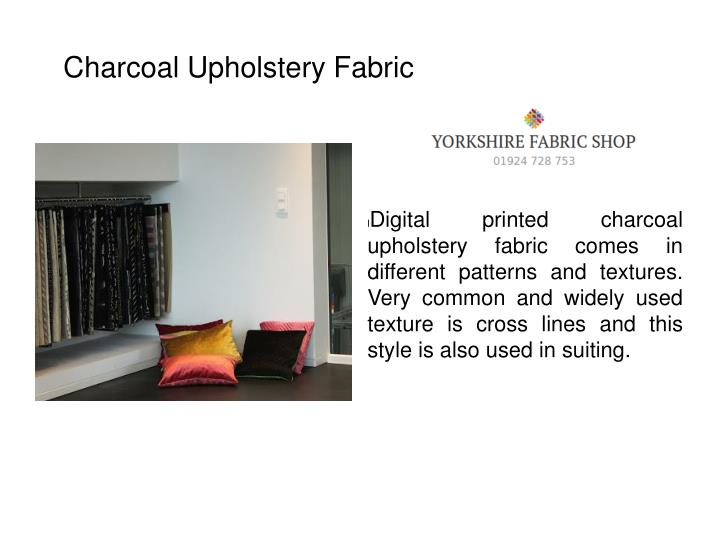 Charcoal Upholstery Fabric
