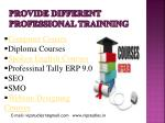 provide different professional trainning