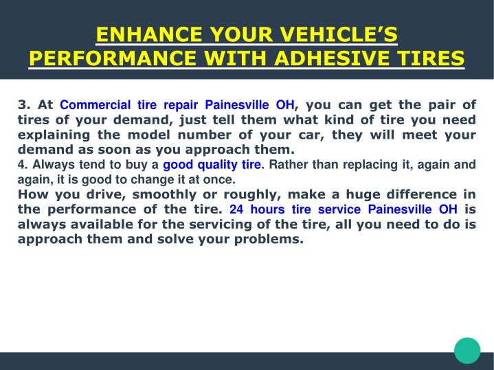 ENHANCE YOUR VEHICLE'S PERFORMANCE WITH ADHESIVE TIRES