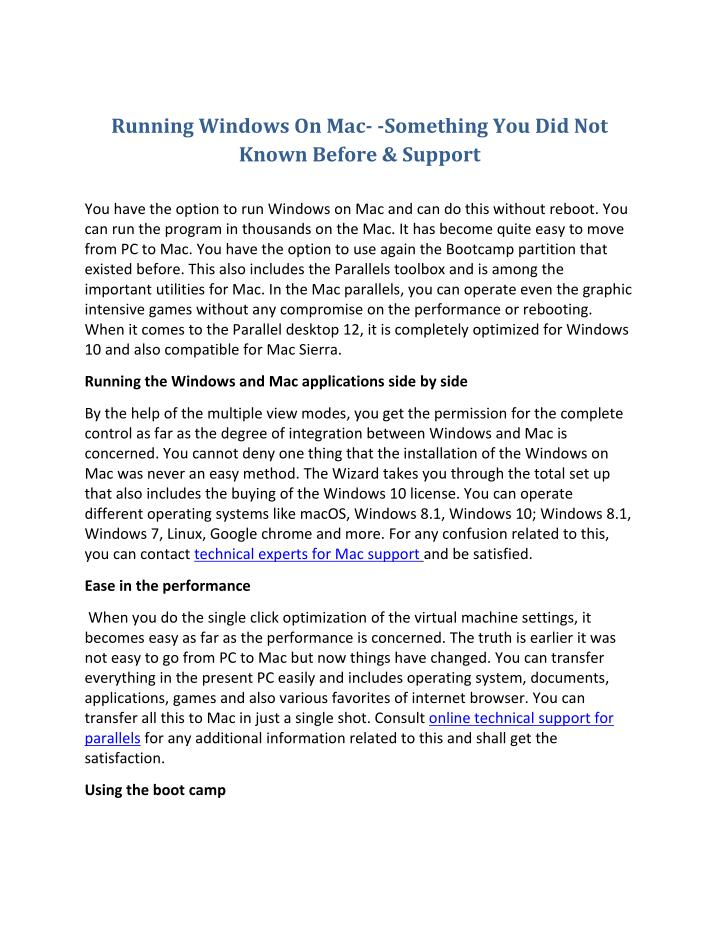 Running Windows On Mac- -Something You Did Not