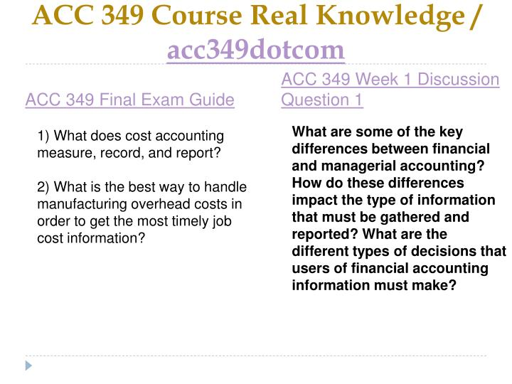 Acc 349 course real knowledge acc349dotcom2