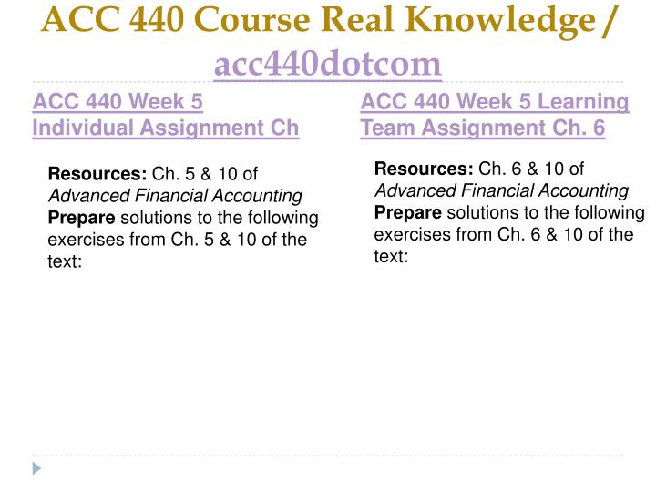 ACC 440 Course Real Knowledge /