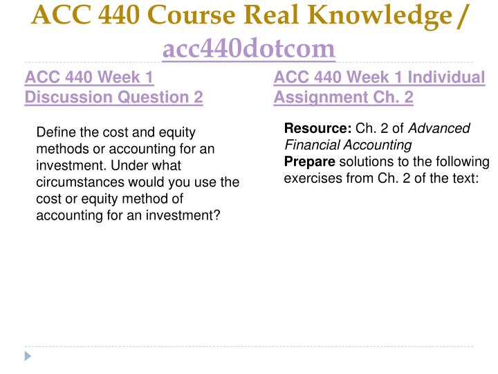 Acc 440 course real knowledge acc440dotcom2