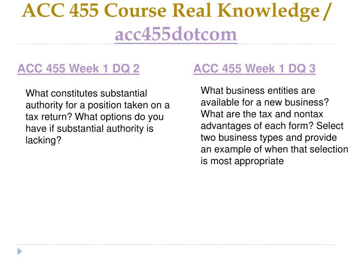 Acc 455 course real knowledge acc455dotcom2