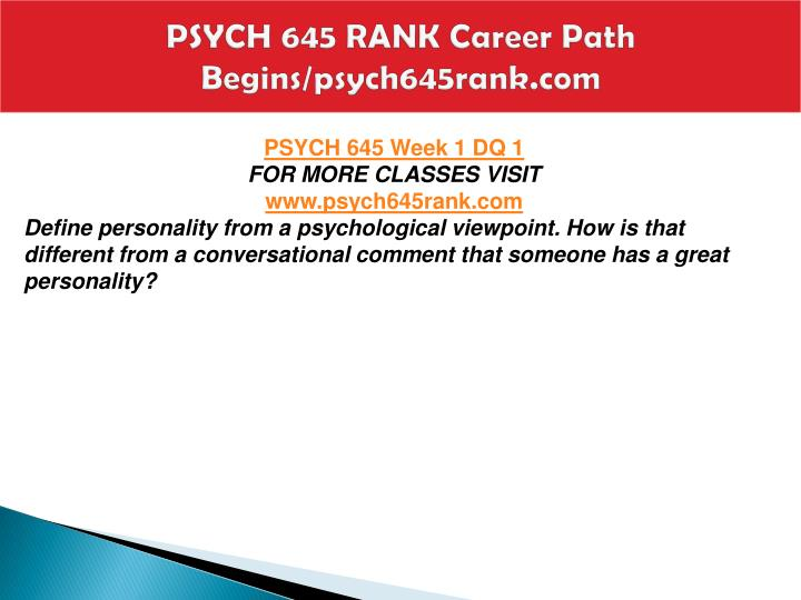 Psych 645 rank career path begins psych645rank com1