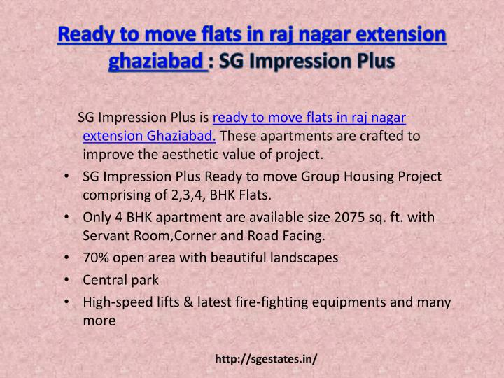 Ready to move flats in raj