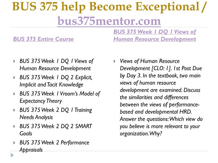Bus 375 help become exceptional bus375mentor com1