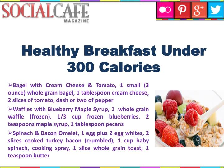 Healthy Breakfast Under 300 Calories