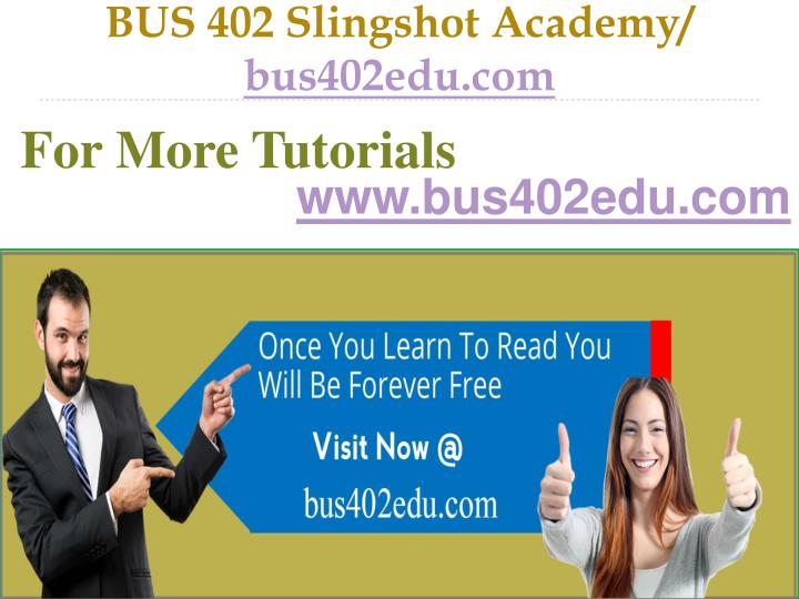 Bus 402 slingshot academy bus402edu com