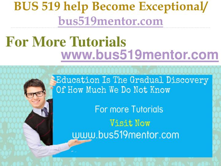 Bus 519 help become exceptional bus519mentor com