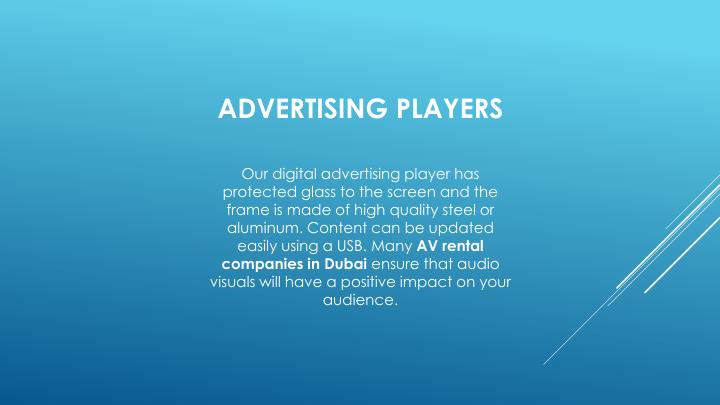 Advertising players