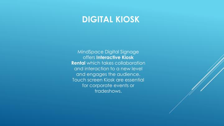 MindSpace Digital Signage offers