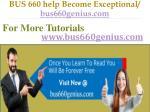 bus 660 help become exceptional bus660genius com11