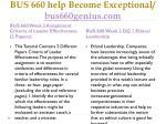 bus 660 help become exceptional bus660genius com3