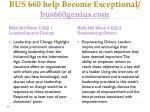 bus 660 help become exceptional bus660genius com8