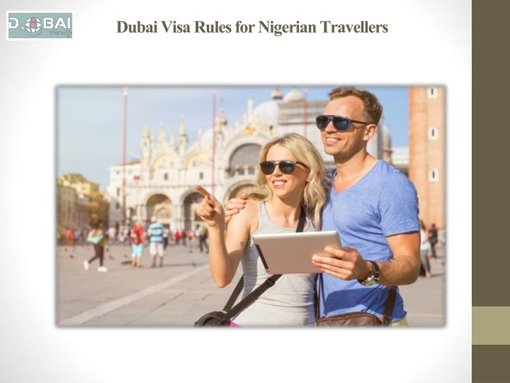 Dubai visa rules for nigerian travellers