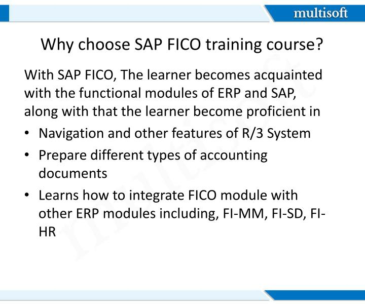 Why choose SAP FICO training course